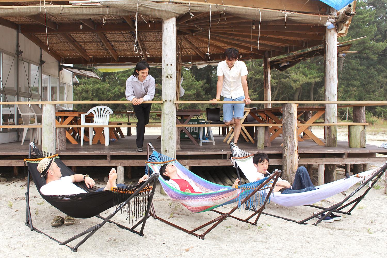 ハンモック-海の家-ビーチ
